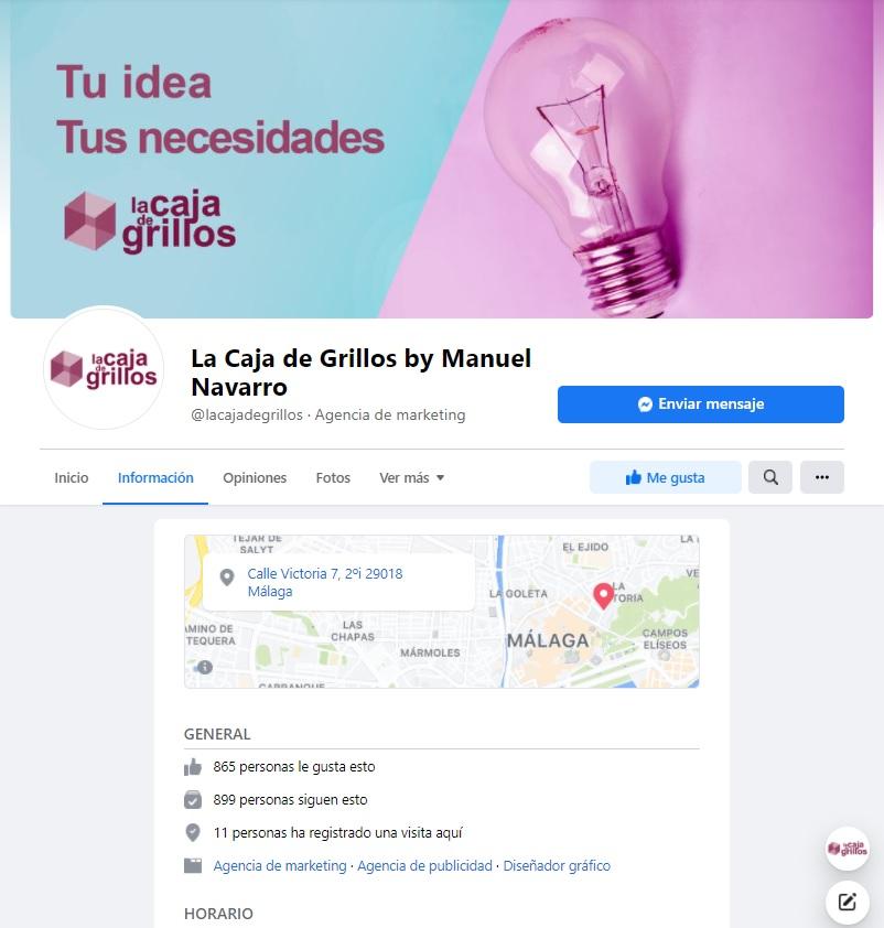 Foto de perfil y foto de portada de La Caja de Grillos